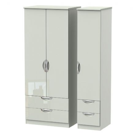Camden Tall Triple 2 Drawer + Drawer Robe